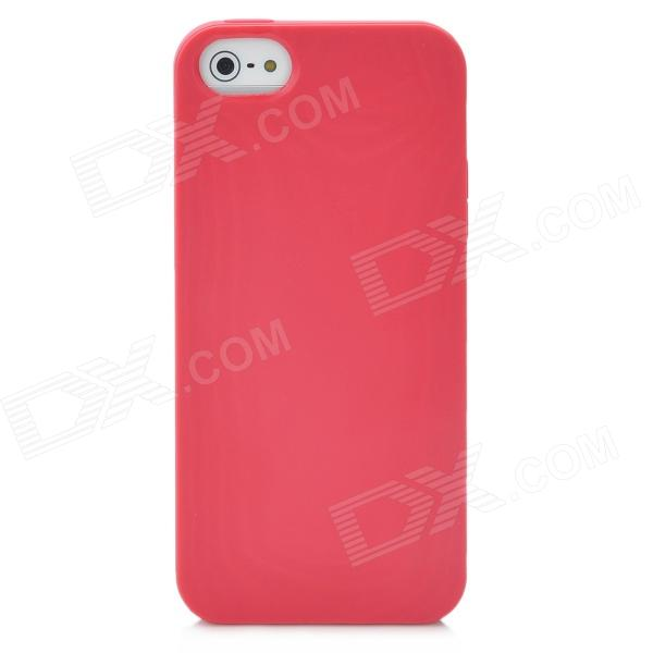 Protective 3D Wood Grain Style TPU Back Cover Case for Iphone 5 - Red