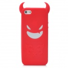 Devil Style Protective Silicone Back Case for Iphone 5 - Red