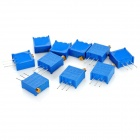 3296 Hög Precision 104 100k Ohm variabelt motstånd potentiometer Trimmer - Blue (10 PCS)
