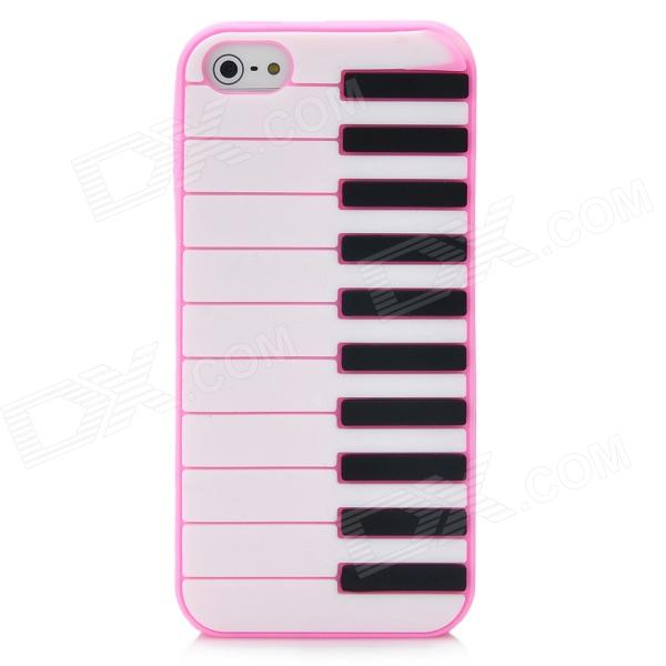 Protective Piano Keyboard Style Back Cover Case for Iphone 5 - Pink