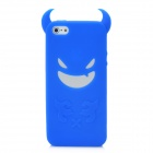 Devil Style Protective Silicone Back Case for iPhone 5 - Blue