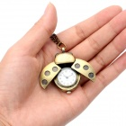 Vintage Ladybug Style Analog Quartz Necklace Watch - Golden + Bronze (1 x CR626)