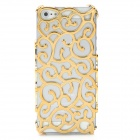 Protective Plastic Chinoiserie Flower Pattern Back Case for Iphone 5 - Golden