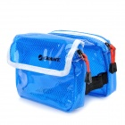 GIANT Waterproof Multi-Pocket Cycling Bicycle Saddle Bag - Blue + White
