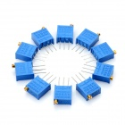 3296 Potentiometer 50kohm Adjustable Resistors - Blue (10 PCS)