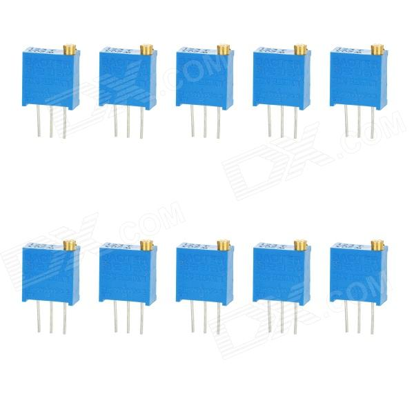 3296 High Precision 203 20k Ohm Variable Resistor Potentiometer Trimmers - Blue (10 PCS) 3296w 203 20k