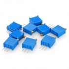 3296 High Precision 203 20k Ohm Variable Resistor Potentiometer Trimmers - Blue (10 PCS)