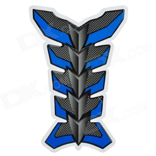 Protective Fish Bone Style Motorcycle Oil Tank Sticker - Blue + Grey