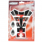 Protective Fish Bone Style Motorcycle Oil Tank Sticker - Red + Black + Grey