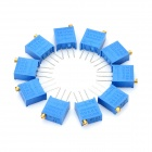 3296 Potentiometer 3-Pin 10kohm Adjustable Resistors - Blue (10 PCS)