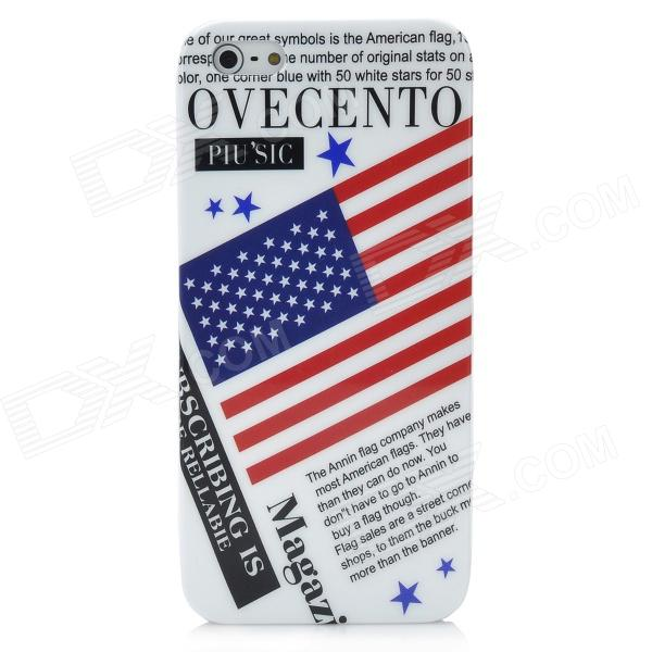 USA National Flag Pattern Protective Plastic Case w/ Nano SIM Card Adapter for Iphone 5 eiffel tower pattern protective back case sim card adapter for iphone 5 yellow pink green