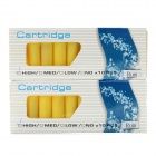 Electronic Cigarette Cartridge Refills - Rum Flavor (Yellow / 20 PCS)