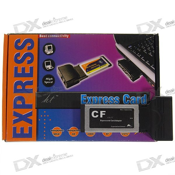 Compact Flash CF Card Reader Laptop ExpressCard