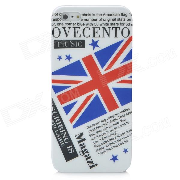 UK National Flag Pattern Protective Plastic Case for Iphone 5 - White + Blue + Red цена и фото