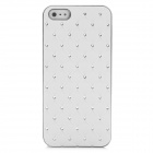 Protective Rhinestone Starry Style Back Cover Case for Iphone 5 - White