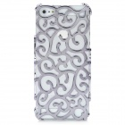 Palace Flower Pattern Protective Hollow Plastic Case for Iphone 5 - Silver