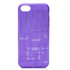 Protective Soft TPU Back Cover Case for Iphone 5 - Purple