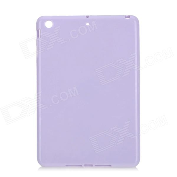 New Protective TPU Back Case Cover for Ipad MINI - Purple new protective tpu back case cover for ipad mini transparent pink