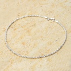 Classic Silver Plated Alloy Twistedstring Chain Necklace - Silver (46cm)