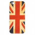 Protective Retro Flag of United Kingdom Pattern Back Case for Iphone 5 - Yellow + Red + Blue