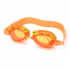 Cute Cartoon Style Swimming Goggle Glasses for Kids - Orange