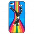 Relief Hip-Hot Boy Pattern Protective Plastic Back Case for Iphone 4 / 4S - Multicolored