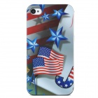 Protective American National Flag Style Back Cover Case for Iphone 4 /4 S - Red + Blue + White