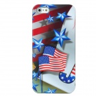USA National Flag Pattern Protective Plastic Case w/ Nano SIM Card Adapter for Iphone 5