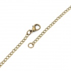 Retro Dangerous Head Mark Pendant Chain Necklace Quartz Watch - Bronze (80cm-Chain / 1 x LR626)