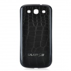Replacement PU Leather Battery Back Cover Case for Samsung Galaxy S3 i9300 - Black + Dark Blue