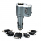 OZIO R32 Car Cigarette Socket Power Charger with Cellphone Adapter - Silvery Grey (12~24V)