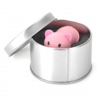 Karikatyr gris stil USB 2.0 Flash Drive - rosa (4GB)