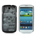 3D Skull Pattern Protective Plastic Back Case for Samsung i9300 - Black