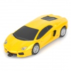 LB-20 Running Car Style USB 2.0 Flash Drive - Yellow + Black (32GB)
