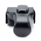 M1 Protective PU Leather Camera Bag for Olympus EPL3 / EPM1 - Black