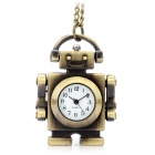 Retro Robot Pendant Chain Necklace Quartz Watch - Bronze (80cm-Chain / 1 x LR626)