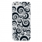 Protective Slim Back Cover Case for Iphone 5 - Black + White