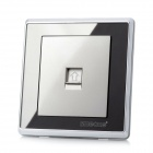 smeonG Wall Mount Telephone Socket Switch w/ Screws - Silver