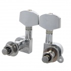 William Fully Closed Iron Guitar String Knob Tuner - Silver (Pair)