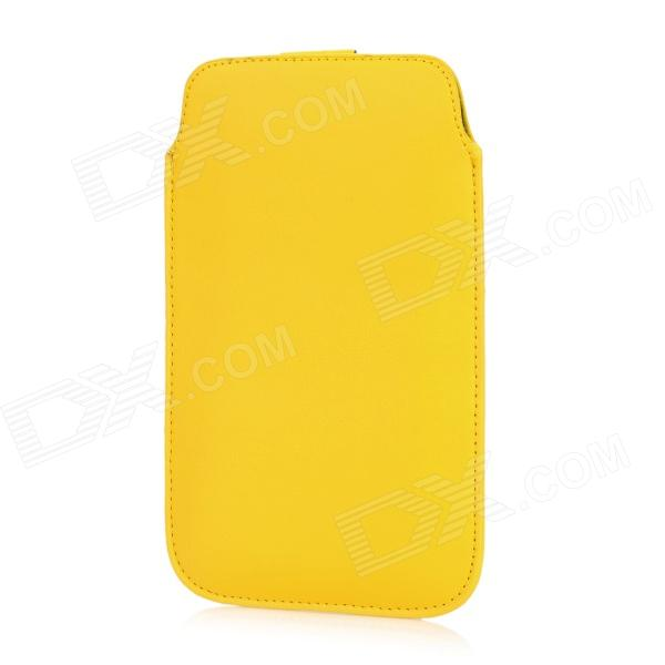 Protective PU Leather Pouch Case for Samsung Galaxy Note 2 N7100 - Yellow