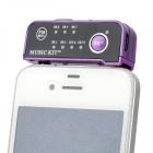 A-10 Car MP3 Player FM Transmitter with Car Charger - Purple