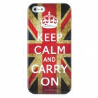 Keep Calm and Carry On UK National Flag Pattern Protective Plastic Case for Iphone 5