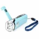 Hand Cranked LED Flashlight Charger w/ Knife / Scissors / Opener / Compass / Money Detector - Blue
