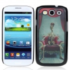Vivid 3D Skeleton King Pattern Protective Plastic Back Case for Samsung Galaxy S3 i9300 - Black