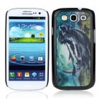 Vivid 3D Wizard Pattern Protective Plastic Back Case for Samsung Galaxy S3 i9300 - Black