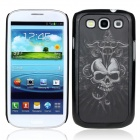 Vivid 3D Skull Pattern Protective Plastic Back Case for Samsung Galaxy S3 i9300 - Black