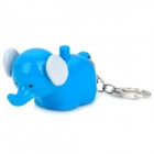 Cute Elephant 1-LED White Light Flashlight Keychain w/ Sound / Action Effect - Blue (3 x LR41)