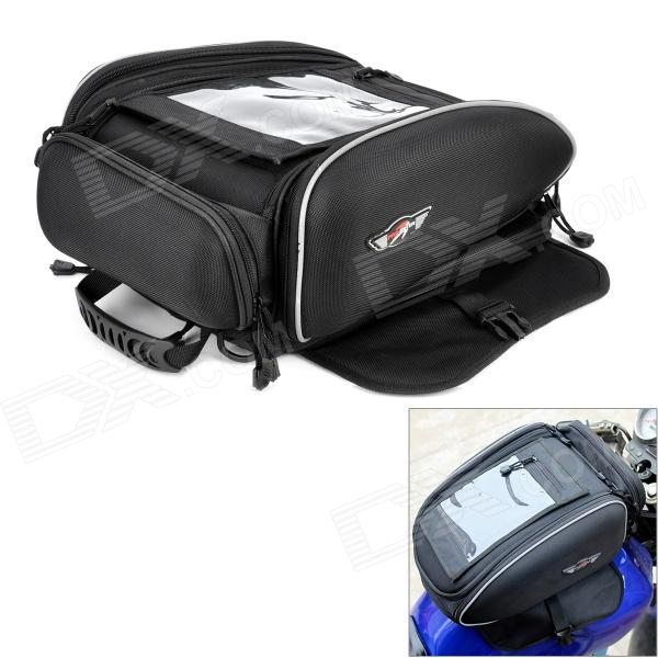 PRO-BIKER G-XZ-002 Multi-Function Motorcycle Fuel Tank Bag - Black motorcycle oil fuel tank bag waterproof magnetic multi layer black universal 38×25cm