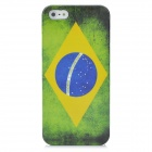 Brazil Flag Pattern Protective Plastic Back Case with SIM Adapter for Iphone 5