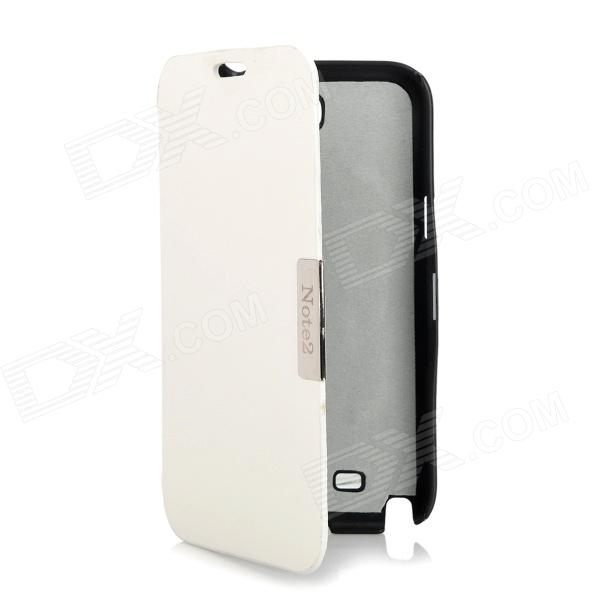 Stylish Protective PU Leather Case for Samsung Galaxy Note 2 N7100 - White + Black настольная лампа marksloid 104033